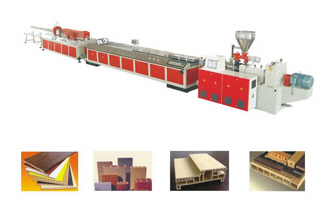 Wood plastic extrusion machine